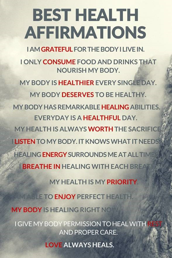 Best Health Affirmations